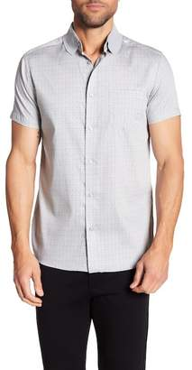 Karl Lagerfeld Short Sleeve Paisley Modern Fit Shirt