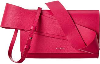 DELPOZO Structured Design Leather Crossbody