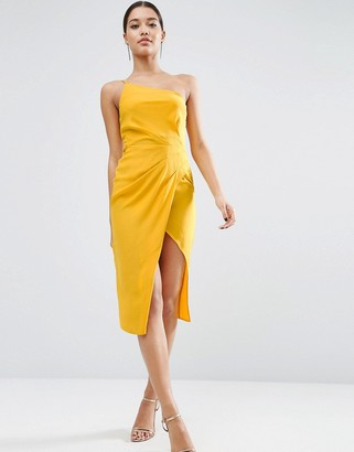 ASOS One Shoulder Drape Midi Dress $61 thestylecure.com