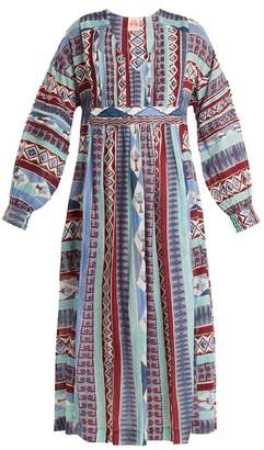 Le Sirenuse, Positano - Calistta Arlechino Print Cotton Dress - Womens - Blue Multi