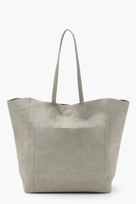 boohoo Suedette Pocket Shopper