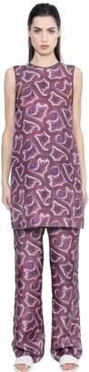 Theory Brindina L Printed Silk Top
