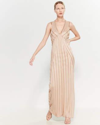 Missoni Striped Deep V-Neck Maxi Dress