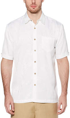 Cubavera Short Sleeve Pattern Button-Front Shirt-Big and Tall