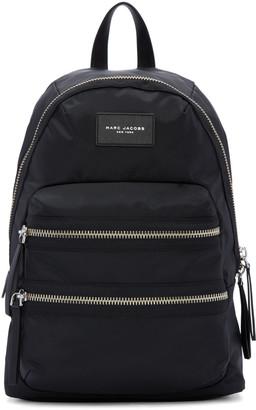 Marc Jacobs Black Nylon Biker Backpack $195 thestylecure.com