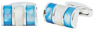 Simon Carter Mop Curve Cufflinks, Blue/White