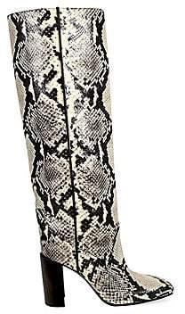 Rag & Bone Women's Aslen Python Print Tall Boots