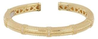 Judith Ripka 14K Gold Plated Sterling Silver Classic Pia White Topaz Cuff