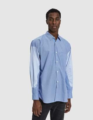 Comme des Garcons Check Stripe Button Up Shirt
