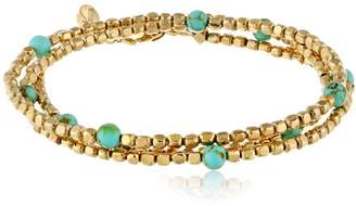 Ettika Tribal -Tone Turquoise Wrap Bracelet