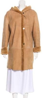 Shearling Knee-Length Coat