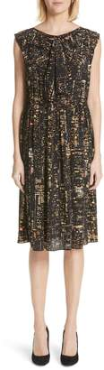 Marc Jacobs City Print Silk Dress