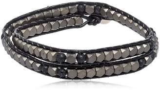 Hematite & Lava Beads Wrap Bracelet