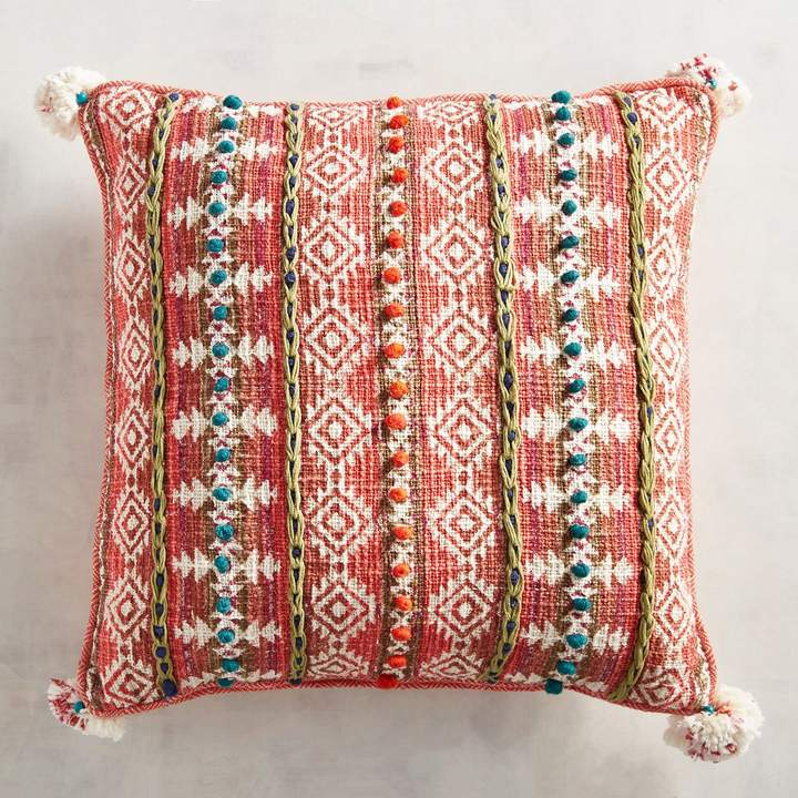 Tribal Textured Square Pillow