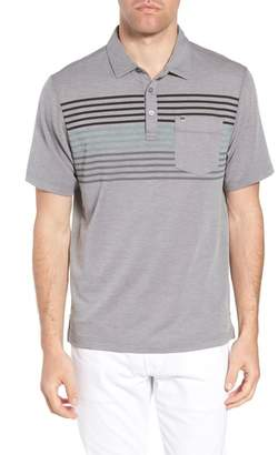 Travis Mathew Whitney Regular Fit Stripe Pique Polo