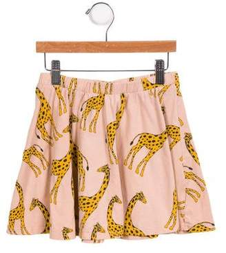 Mini Rodini Girls' Giraffe Printed Skirt