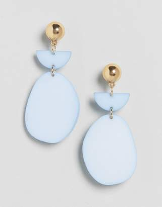 Asos DESIGN pastel resin drop earrings