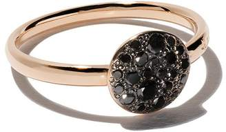 Pomellato 18kt rose gold Sabbia black diamond ring