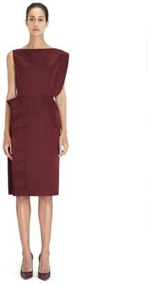 Lanvin Garnet Asymmetrical Dress