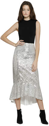 Alice + Olivia Kina Embellished Mid Length Skirt