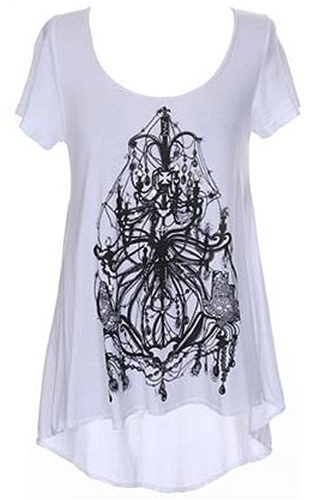 Lauren Moshi Chandelier Tail Swing Tee -