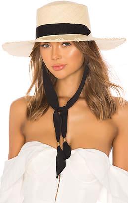 Sensi STUDIO Frayed Long Brim Boater Hat