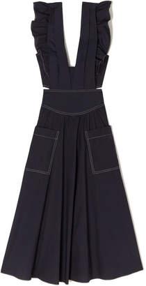 Rebecca Taylor La Vie Sleeveless Cotton Poplin Dress