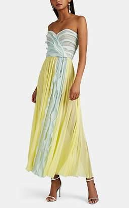 J. Mendel Women's Silk Plissé Chiffon Cocktail Dress - Yellow