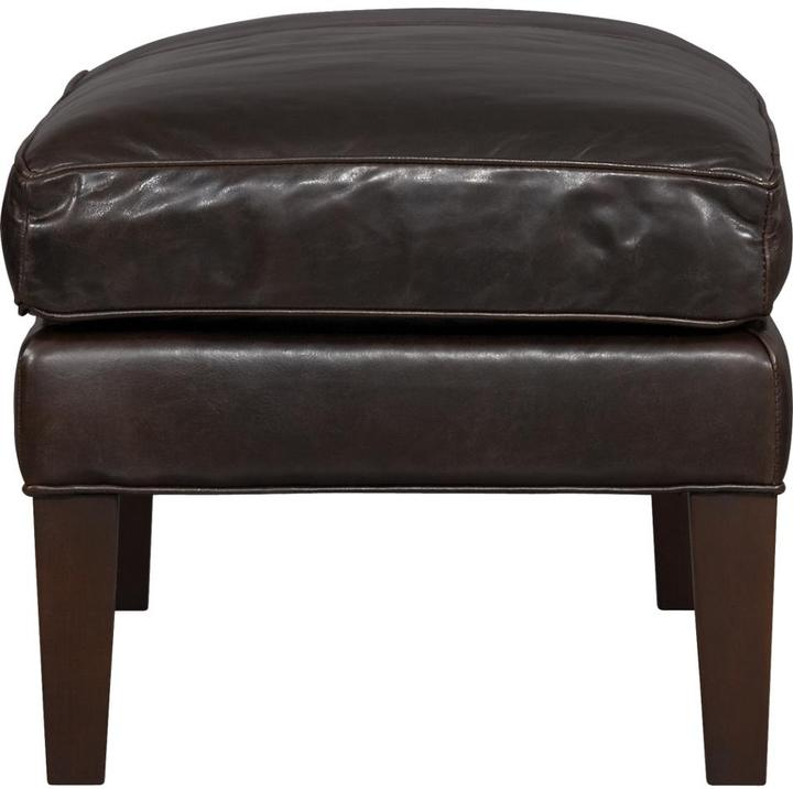 Crate & Barrel Brooks Leather Small Bench