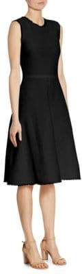 Jil Sander Fit-&-Flare Frayed Dress