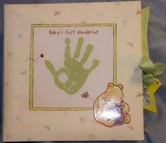Disney Classic Pooh Keepsake Baby's First Handprint Plaster Kit. Plaster with Mint Green Display Box