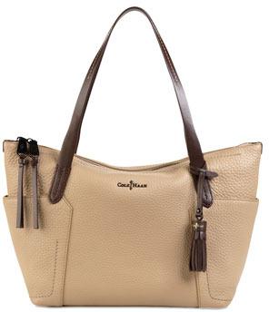 Cole Haan Parker Zip-Top Shopper Tote Bag, Sandstone
