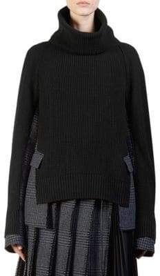 Sacai Knit Glen Check Pullover