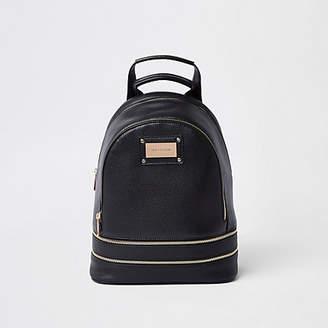 River Island Black zip around backpack