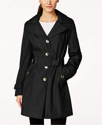 Calvin Klein Hooded Single-Breasted Water-Resistant Trench Coat $99.98 thestylecure.com