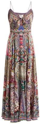 Camilla - Kalbelia Queen Silk Dress - Womens - Pink Multi