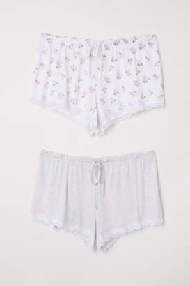 H&M 2-pack Pajama Shorts - White
