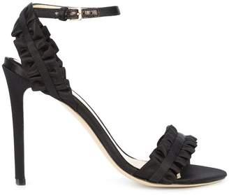 Monique Lhuillier ruffled stiletto sandals