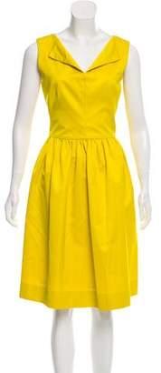 Lela Rose Sleeveless Knee-Length Dress
