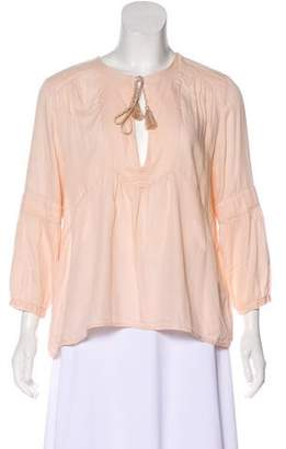 BA&SH Pleated Long Sleeve Blouse