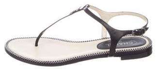 Chanel Chain-Link Thong Sandals