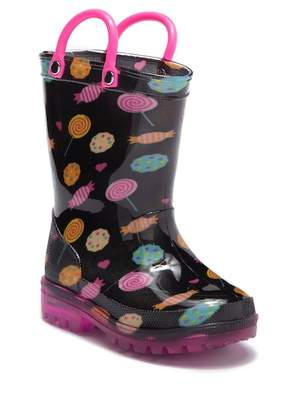 LILLY OF NEW YORK Candy LED Light-Up Rain Boot (Toddler & Little Kid)