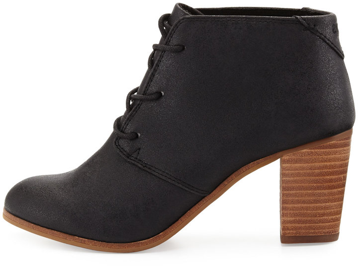 TOMS Lunata Faux-Leather Ankle Boot, Black 4