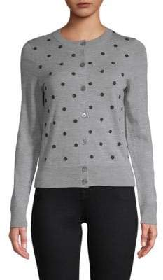 Marc Jacobs Embellished Crewneck Wool Cardigan