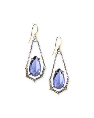 Alexis Bittar Crystal Illusion-Set Wire Drop Earrings $255 thestylecure.com