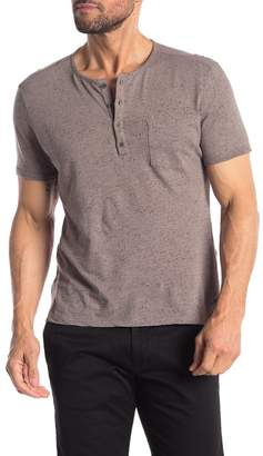John Varvatos Short Sleeve Pocket Henley