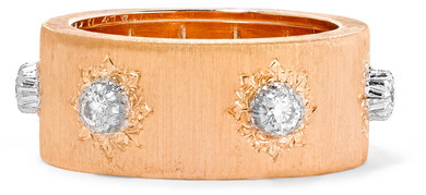 BuccellatiBuccellati - Macri 18-karat Pink And White Gold Diamond Ring - Rose gold
