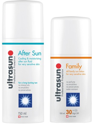 Ultrasun Family SPF 30 - Super Sensitive (100ml) and Aftersun