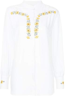 Bruta flower embroidered blouse