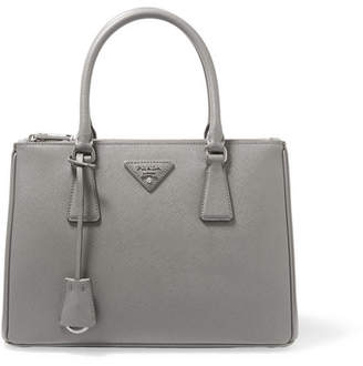 Prada Galleria Medium Textured-leather Tote - Gray